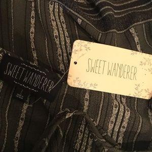 Sweet Wanderer Tops - NWT Sweet Wanderer   Cold Shoulder Blouse